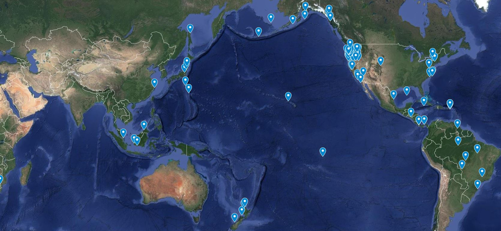 Fisheries and Wildlife research map